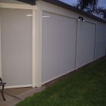 Mesh patio blinds