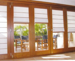 Bali batton roman blinds