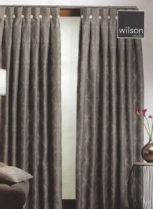 Wilsons fabric with reverse pleat